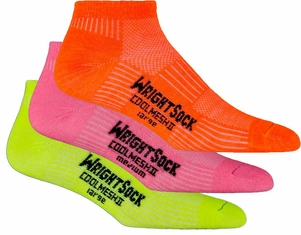 Wrightsock CoolMesh II Neon Lo Cut Socks | 3 Pack