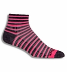 Wrightsock CoolMesh II QTR Striped Sport Sock