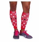 Zensah DeZign Polka Dot Compression Leg Sleeves