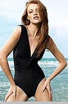 Lenny Swimwear - Draped Ruched Maillot  - On Sale