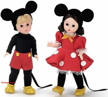 "8"" MICKEY MOUSE and MINNIE MOUSE SET"
