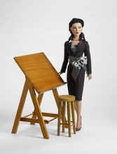 ANNE HARPER'S DRAFTING TABLE - incl stool