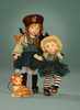 "8"" RILEY CITY CHIC & TOOTS the CAT - doll on left*"