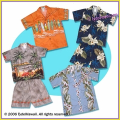 Boy & Infant Hawaiian Shirt