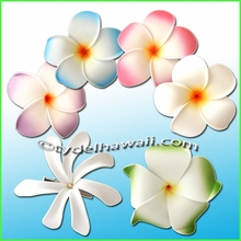 Foam Flower Hair Clips