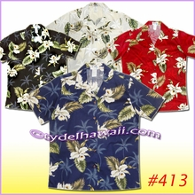 Garden Orchid Women Hawaiian Shirt - 413Black