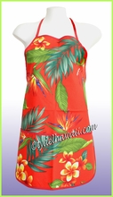 Hawaiian Print Apron - 101Red