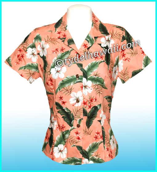 Women'S Blouses Hawaiian 103