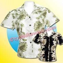 Hawaiian Lady Blouse - 434White