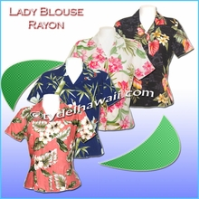 Hawaiian Lady Blouse - Rayon