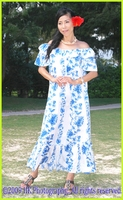 Hawaiian Muumuu Dress - Full Length