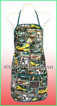 Hawaiian print Apron - 202Green