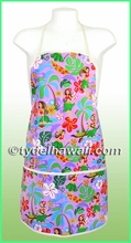 Hawaiian Print Apron - 313Purple