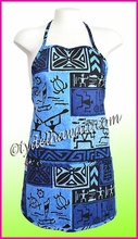 Hawaiian print Apron - 260Navy