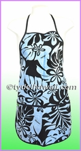 Hawaiian print Apron - 403Blue