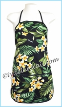 Hawaiian Print Apron - 164Black