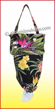 Hawaiian Print Grocery Plastic Bags Holder & Dispenser - 122Black