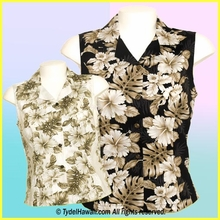 Hawaiian Sleeveless Blouse - 434