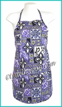 Hawaiian Print Apron - 113Purple