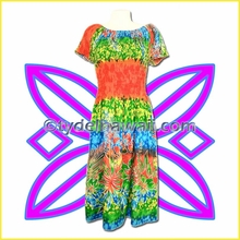 Island Aloha Dress w/Short Sleeves