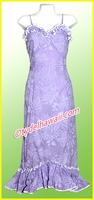 Purple Hawaiian Spaghetti Dress