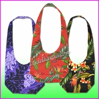 Large Cross-Body Hawaiian Print Hobo Bag