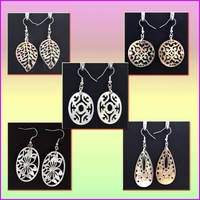 Mother of Pearl Shell w/ silver Plated Earrings