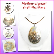 Mother of Pearl Shell w/Leather Necklace