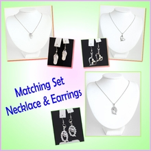 Sterling Silver Necklace & Earrings Matching Set