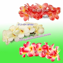 New Plumeria Double Large Hair Comb