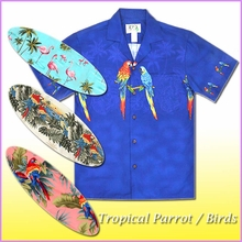 Parrot & Flamingo Hawaiian Shirt