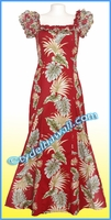 Red Classic Aloha Dress