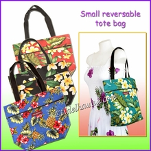 Small Hawaiian Print Reversible Tote Bag