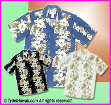 Tropical Floral Panel Hawaiian Shirt