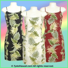 Tropical Leaf Panel Hawaiian Sun Dress