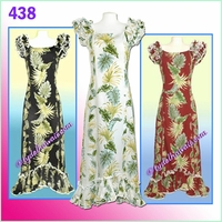 Tropical Leaf Panel Hawaiian Island Dress - 438