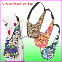 Unique Messenger Hawaiian Print Bag