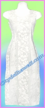 White Hawaiian  Long Tank Dress