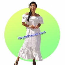 White Hawaiian Muumu dress - Full Length