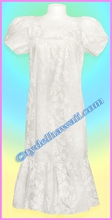 White Hawaiian Muumuu - Tea length