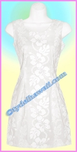 White Hawaiian Tank Dress