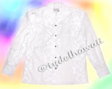 White Hawaiian Wedding Shirt - Long Sleeves