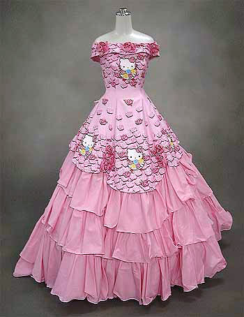 2bdedd04466e Hello Kitty Wedding Dress