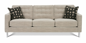 Abbott Chrome Leg Sofa by Rowe