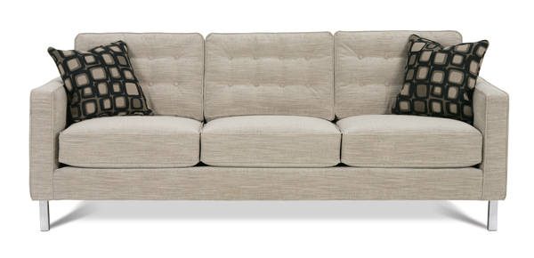 Abbott Chrome Leg Sofa by Rowe - sofas and sofa beds