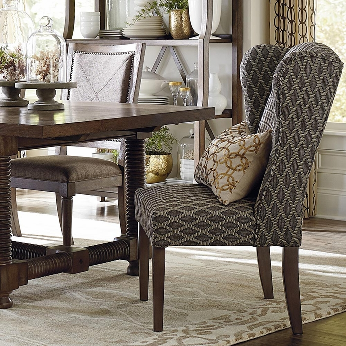 Alden Upholstered Dining Wing Back Arm Chair - dining chairs