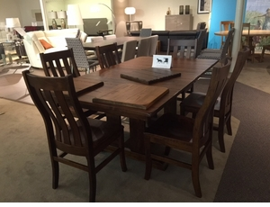 Amish Rectangular Cherry Dining Set
