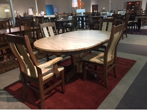 Amish Wormy Maple Dining Set