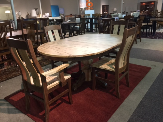 amish wormy maple dining set dining room