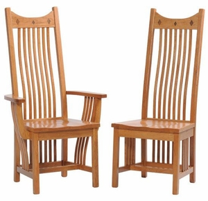 Ann Arden Classic Mission Dining Chairs